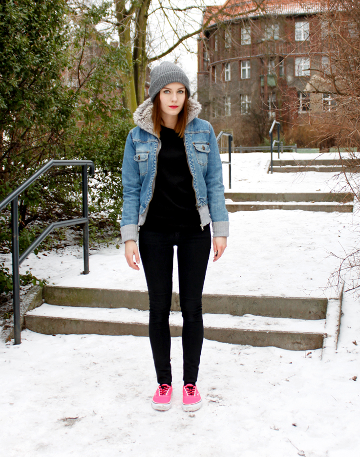 Outfit Neon Pink Vans And Fake Fur Hoodie Jacket. U2013 Hoard Of Trends U2013 Personal Style U0026 Fashion ...