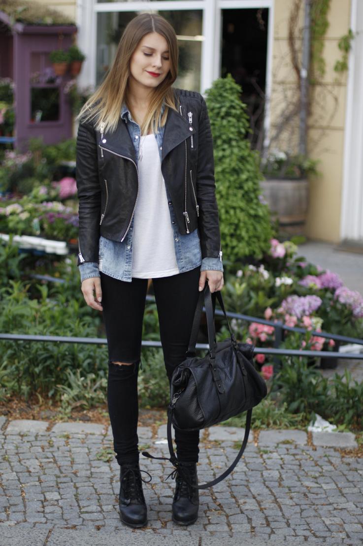 Black Denim Jacket Outfit - Best Jacket 2017