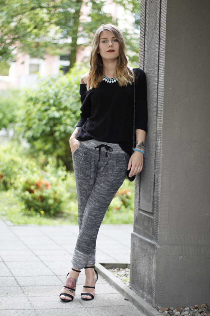 outfit: jogging pants and high heels. – Hoard of Trends ...