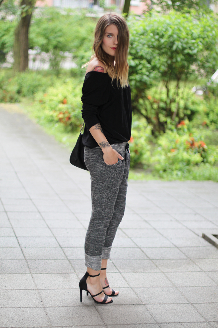 Outfit jogging pants and high heels. u2013 Hoard of Trends u2013 Fashion Blog from Berlin / Mode Blog ...