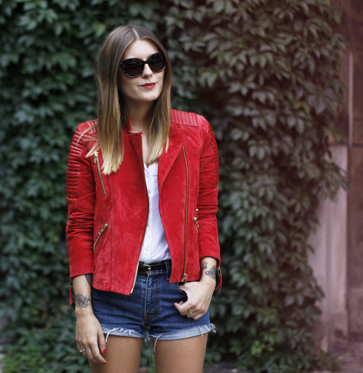 outfit: red suede leather. – Hoard of Trends – Personal ...