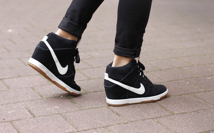 check out 79945 21c7d nike dunk high skinny black boys pants shoes