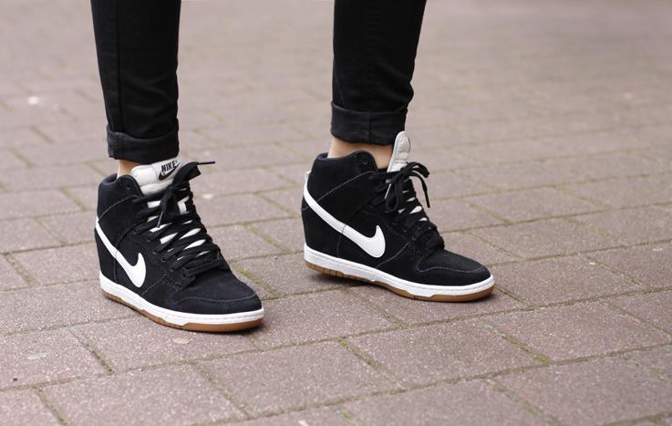 Nike Dunk Sky hi Wedge Sneaker Black Nike Dunk Sky hi Sneaker