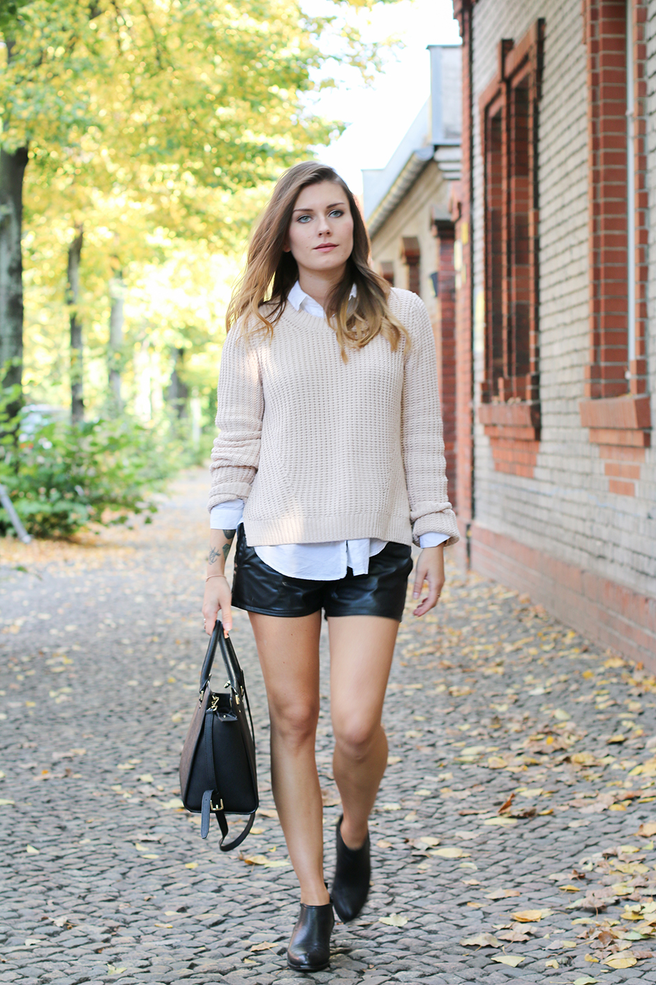 Nude Sweater Black Shorts 2 Hoard Of Trends