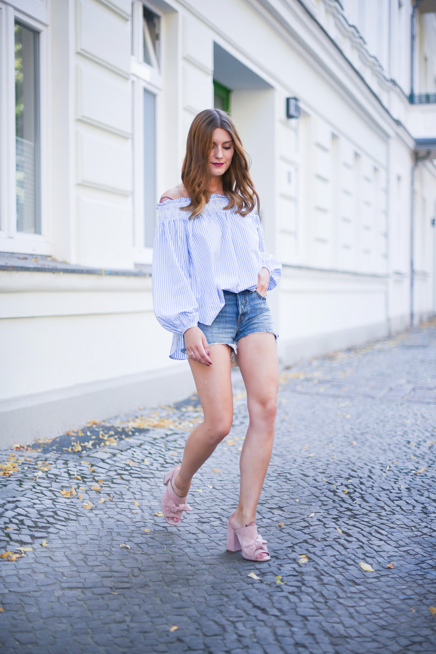 good_vibes_only_outfit_off_shoulder_zara_mules_6